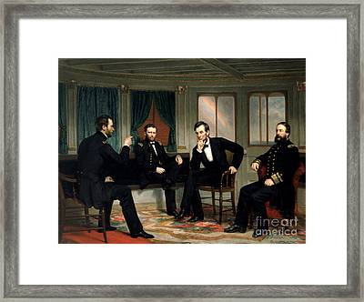 The Peacemakers, 1865 Framed Print by George Peter Alexander Healy