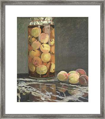 The Peach Glass Framed Print