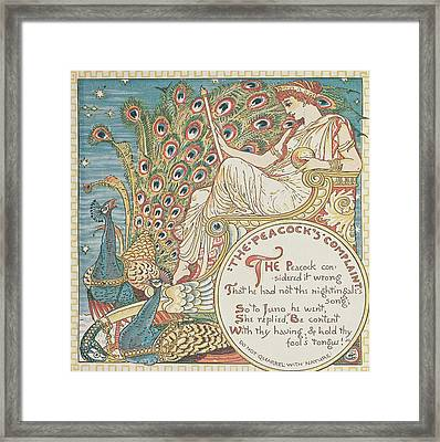 The Peacocks Complaint Framed Print by English School