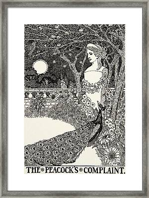The Peacock's Complaint, From A Hundred Fables Of Aesop Framed Print