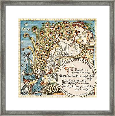 The Peacock's Complaint Framed Print by Pg Reproductions