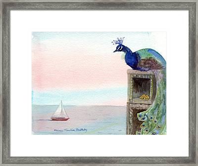 The Peacock's Lair Framed Print