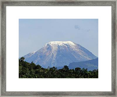 Framed Print featuring the photograph The Peak by Blair Wainman