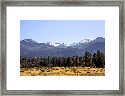 The Peaks - Where Earth Meets Heaven Framed Print