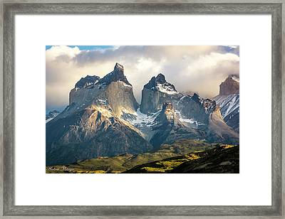 The Peaks At Sunrise Framed Print by Andrew Matwijec