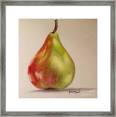 The Pear Framed Print