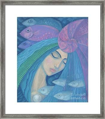 The Pearl Framed Print by Julia Khoroshikh