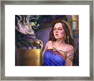 The Pearl Of Binding Framed Print by Richard Hescox