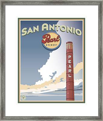 The Pearl Smokestack Framed Print