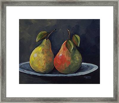 The Pears  Framed Print by Torrie Smiley