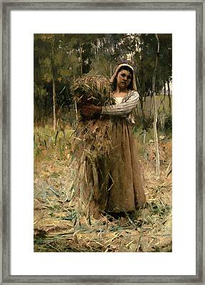 The Peasant Girl  Framed Print by Arthur Melville