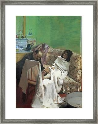 The Pedicure Framed Print by Edgar Degas