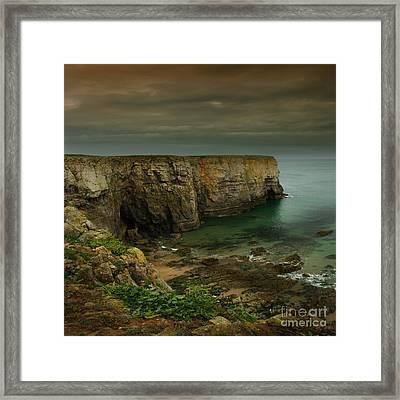 The Pembrokeshire Cliffs Framed Print by Angel Ciesniarska