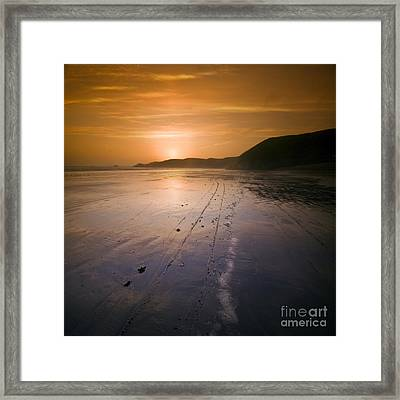 The Pembrokeshire Sunset Framed Print by Angel  Tarantella