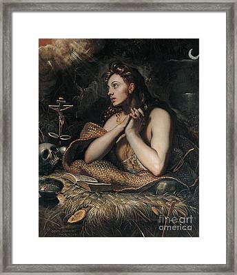 The Penitent Magdalene Framed Print