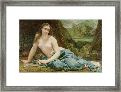 The Penitent Magdalene Framed Print by Paul Baudry