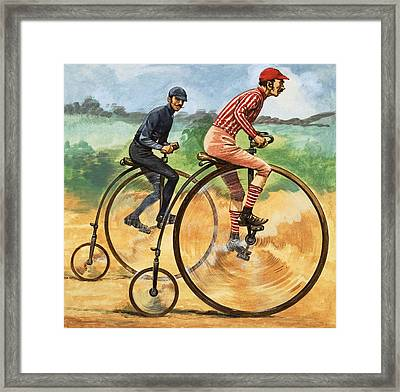 The Penny Farthing Framed Print by Peter Jackson