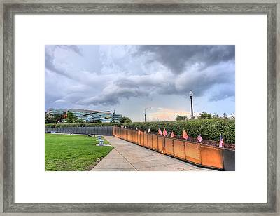 The Pensacola Vietnam Wall Framed Print by JC Findley