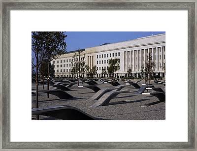 The Pentagon Memorial Honoring The 184 Framed Print by Everett