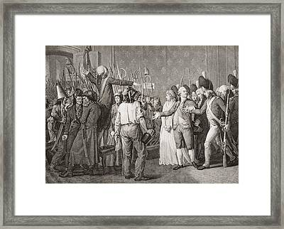 The People Storm The Tuileries To Framed Print by Vintage Design Pics