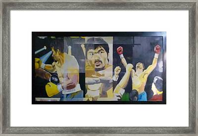 The People's Champ Framed Print by Lander Blanza