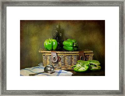 The Pepper Basket Framed Print by Diana Angstadt