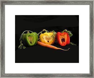 The Pepper Trio Framed Print by Carol Milisen