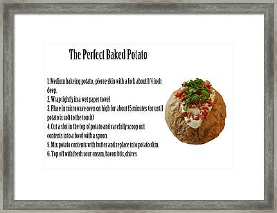 The Perfect Baked Potato Framed Print by Michael Ledray