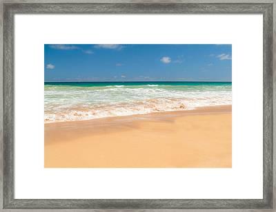 The Perfect Beach - Kapaa Kauai Hawaii Framed Print by Brian Harig