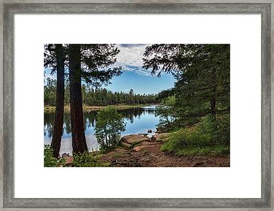 Framed Print featuring the photograph The Perfect Fishing Spot  by Saija Lehtonen