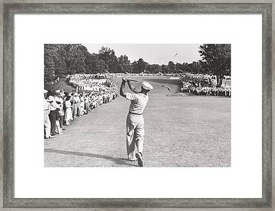 The Perfect Golf Swing Ben Hogan Golf Framed Print by Peter Nowell