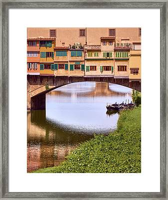 The Perfect Place To Park Your Boat Framed Print