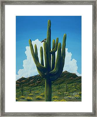 The Perfect Resting Place Framed Print