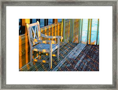 The Perfect Seat At Sunset Framed Print by Gregory Ballos