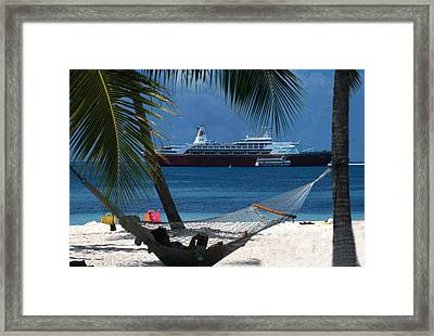 The Perfect Vacation Framed Print by Carl Purcell