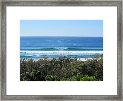The Perfect Wave Sunrise Beach Queensland Australia Framed Print