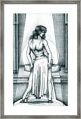The Performer Framed Print by Scarlett Royal