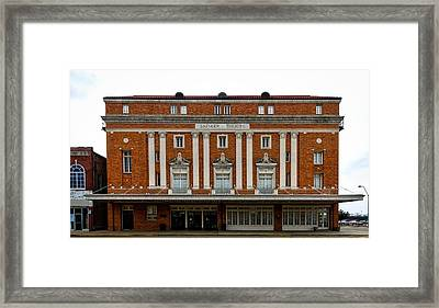 The Perot Theatre Framed Print