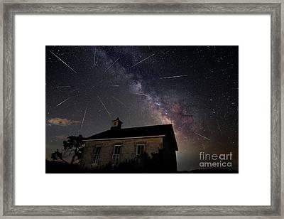 The Perseid Meteor Shower At Lower Fox Creek School  Framed Print by Keith Kapple