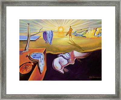 The Persistence Of Memory-amadeus Series  Framed Print by Dominique Amendola