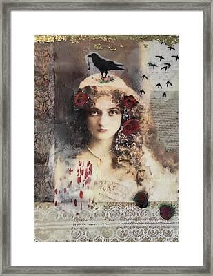 The Pet Crow Framed Print