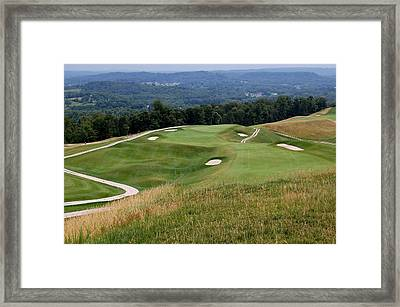 The Pete Dye Course At French Lick Resort Framed Print by Ann and John Cinnamon