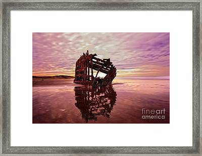 The Peter Iredale 2 Framed Print by Kay Brewer