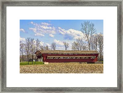 The Petersburg Covered Bridge Framed Print by William Sturgell