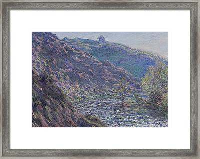 The Petite Creuse River Framed Print by Claude Monet