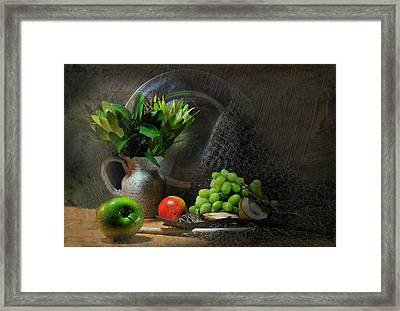 The Pewter Plate Framed Print