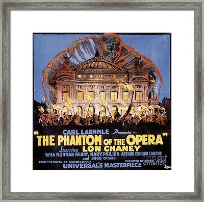 The Phantom Of The Opera Framed Print