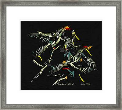 The Pheasant Hunt Framed Print by Jerry White