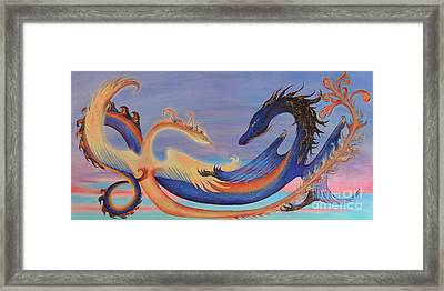 The Pheonix And The Dragon Framed Print by Chloe Ulis
