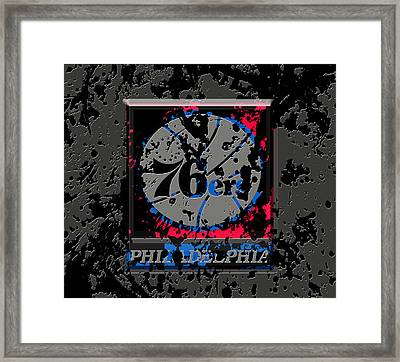 The Philadelphia 76ers 1a Framed Print by Brian Reaves